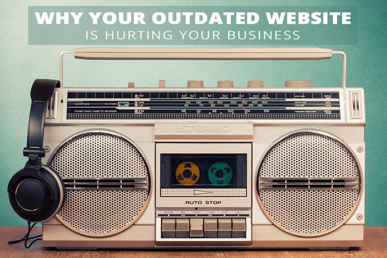 outdated website design